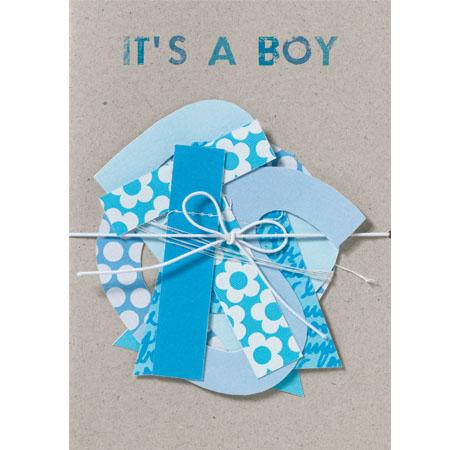 """Geburtskarte - Girlanden Karte """"It's a Boy"""" - räder"""