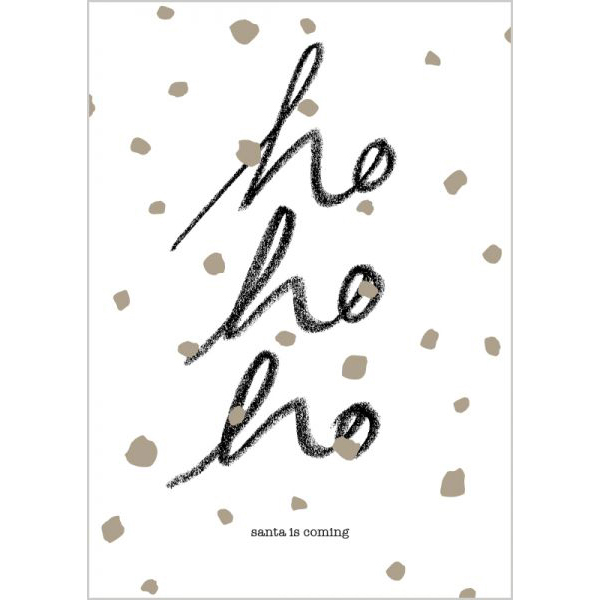 "Weihnachtspostkarte - ""ho, ho, ho"" - The Buttique"