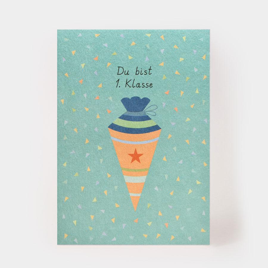 "Postkarte - ""Du bist Erste Klasse"" - Kartenmarie"