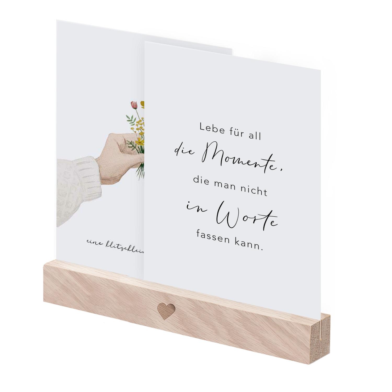 """Postkartenständer aus Holz - """"Herz"""" - 15 cm  - Eulenschnitt"""