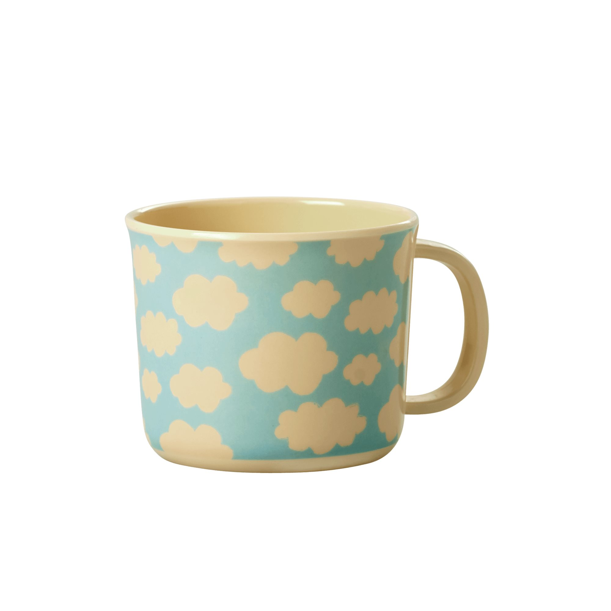 Melamine Baby Cup - Cloud Print - rice