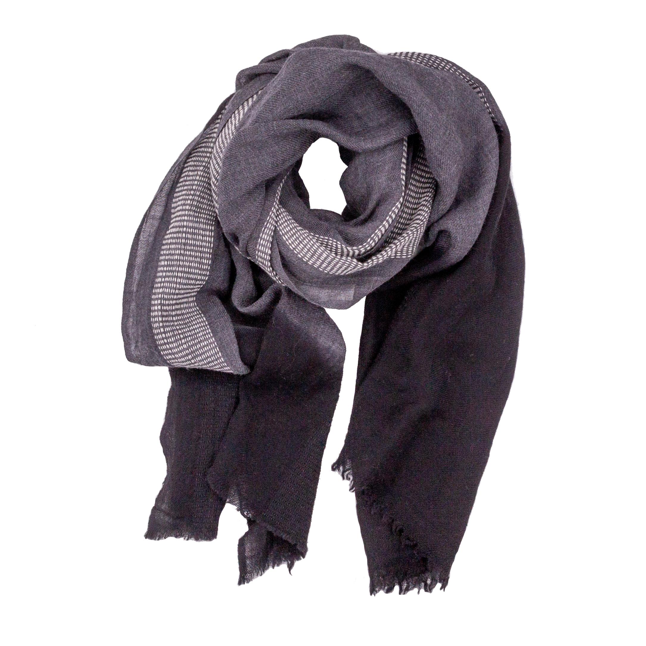 Halstuch | Schal - grau/schwarz/weiss - Yam Yam Fashion