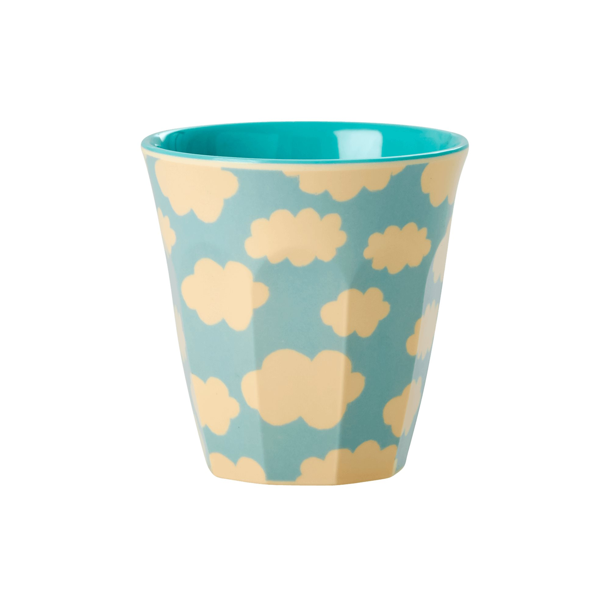 Small Melamine Kids Cup - Cloud Print - rice