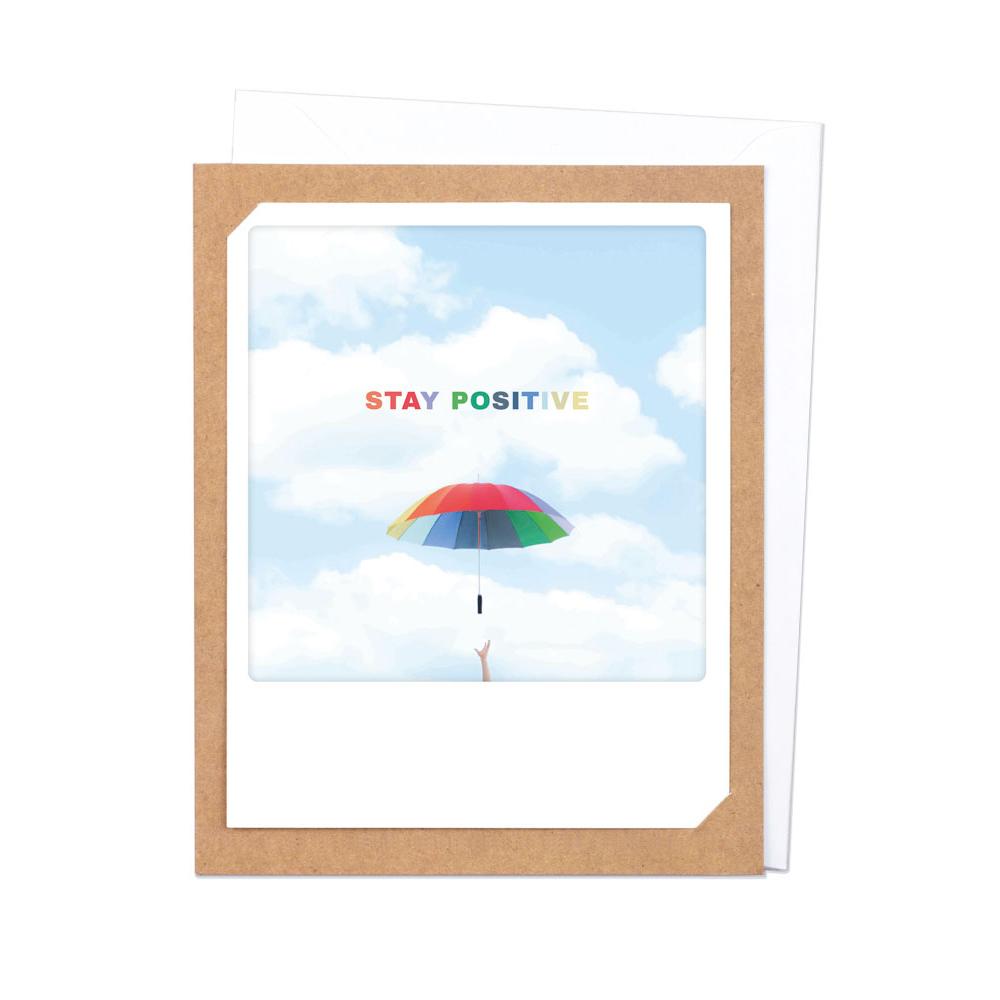 "Photo-Klappkarte ""Stay positive"" - ZG-903-DE-KK - Pickmotion"