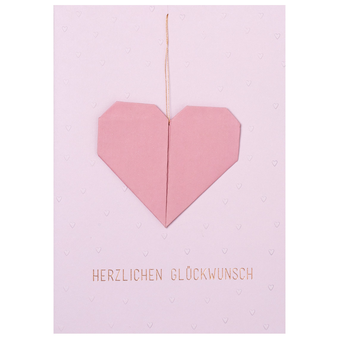 "Geburtstagskarte - Origamikarte ""Herz"" - räder"