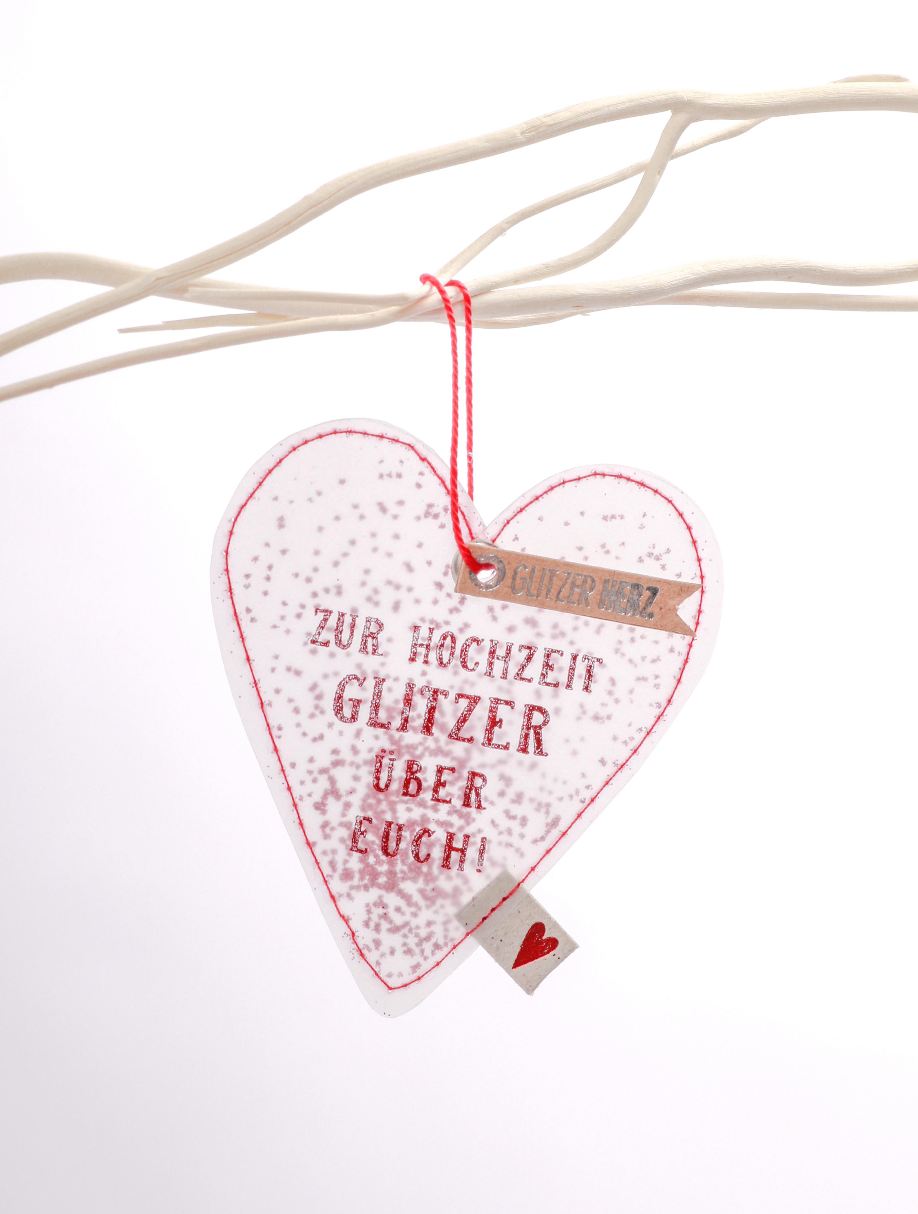 Glitzerherzen - Glitzerhochzeit - Good old friends