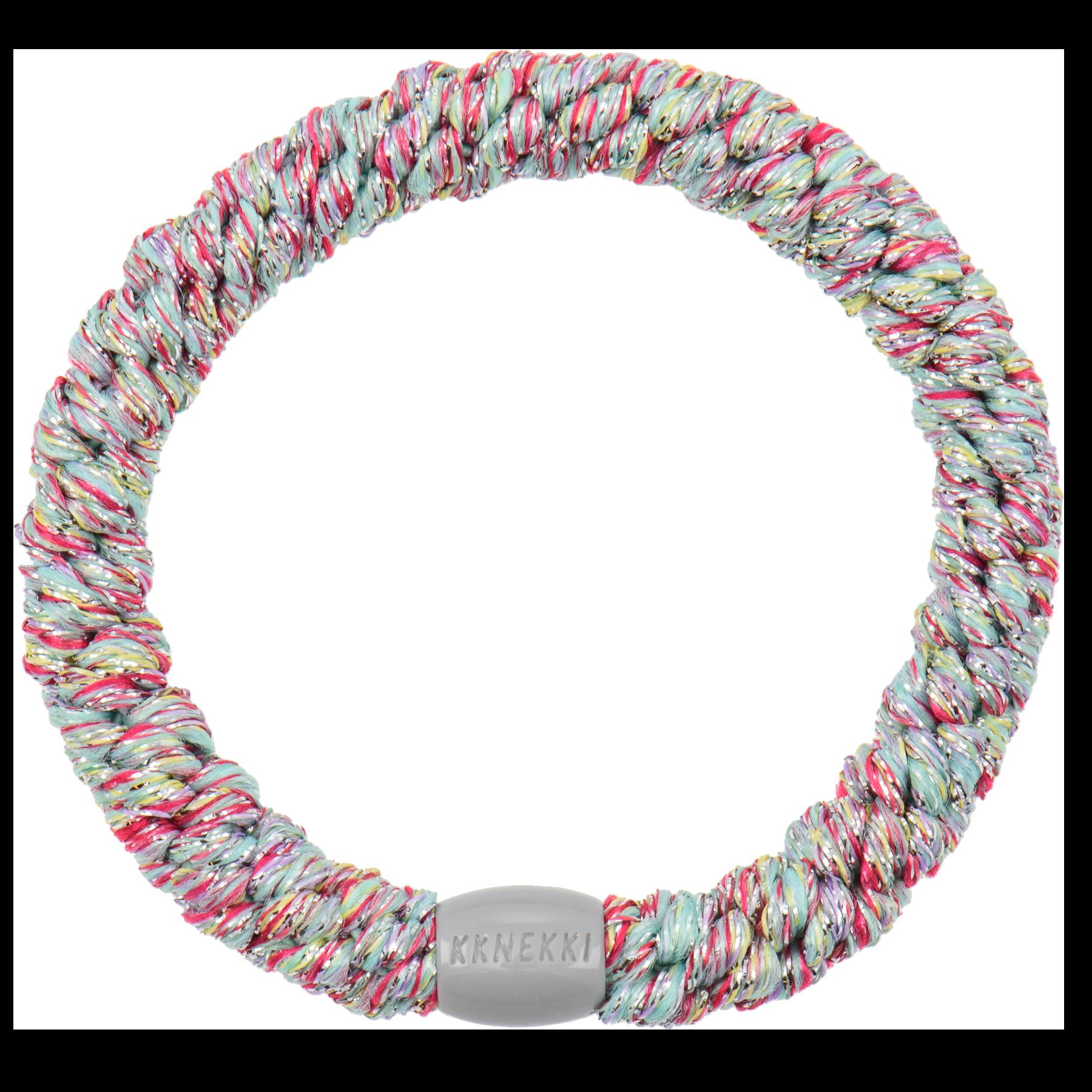 Haargummi / Armband - Rainbow Glitter 53477 - KKNEKKI
