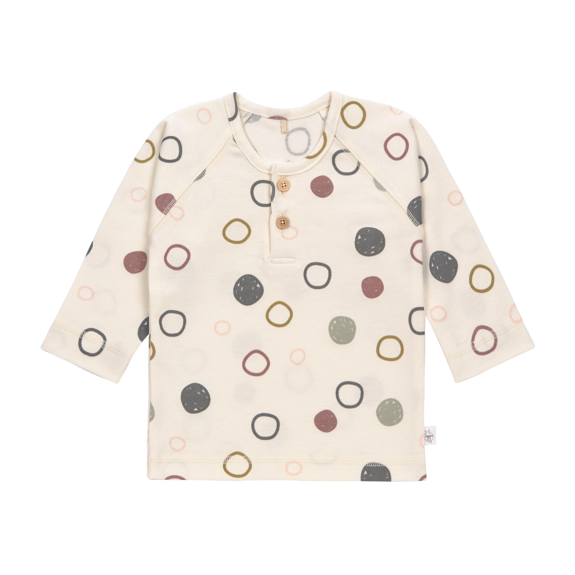 Baby Langarmshirt - Circles offwhite - Lässig