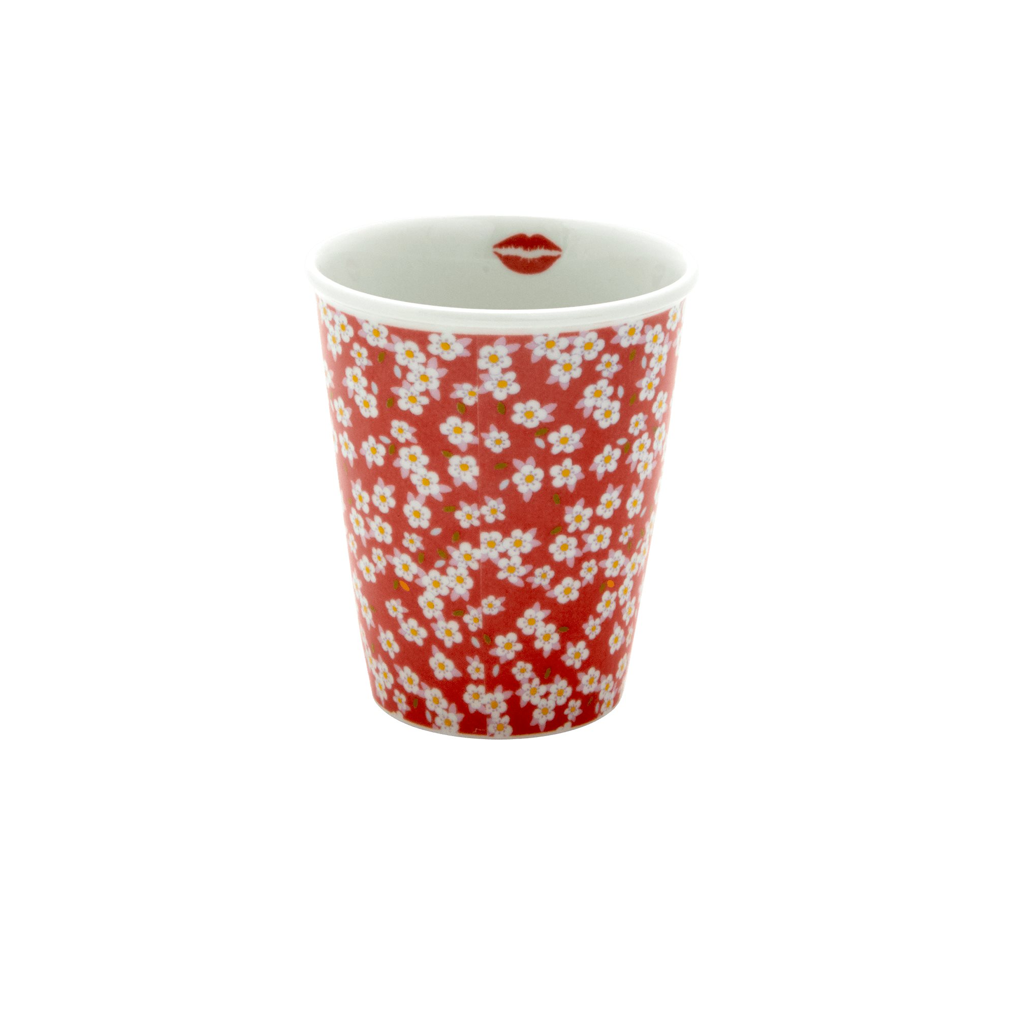 Porcelain Cup - Small Flower Print - rice