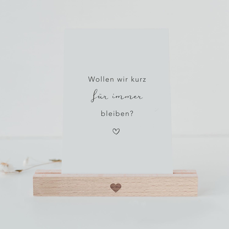Postkarte - Für immer Bleiben - Eulenschnitt