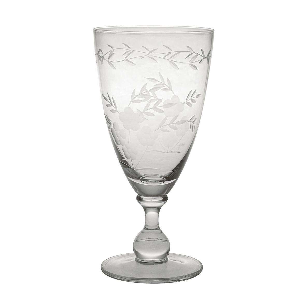 Weinglas mit Gravur / Glasschliff - large - Greengate