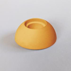 Kerzenhalter gelb aus Kera-Guss - Wünschelicht