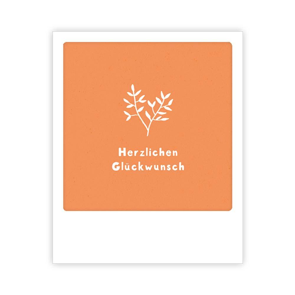 """Kleine-Postkarte """"Herzlichen Glückwunsch"""" - MP 0242 - DE - Pickmotion"""