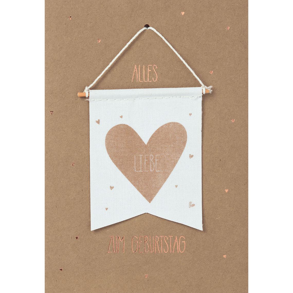 """Geburtstagskarte - """"Alles Liebe zum Geburtstag"""" - räder"""