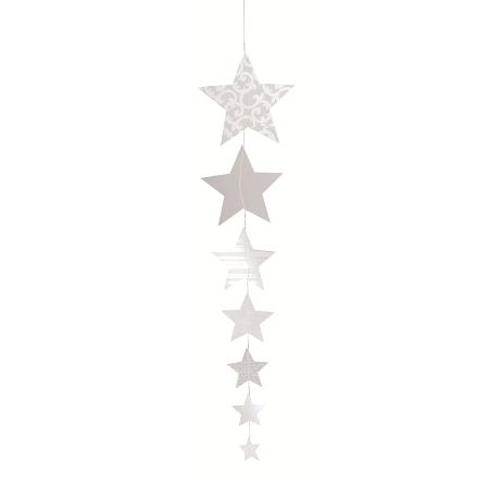 """Papierkette - X-mas Paper Stars """"Sterne mit Druck"""" - räder (Xmas)"""