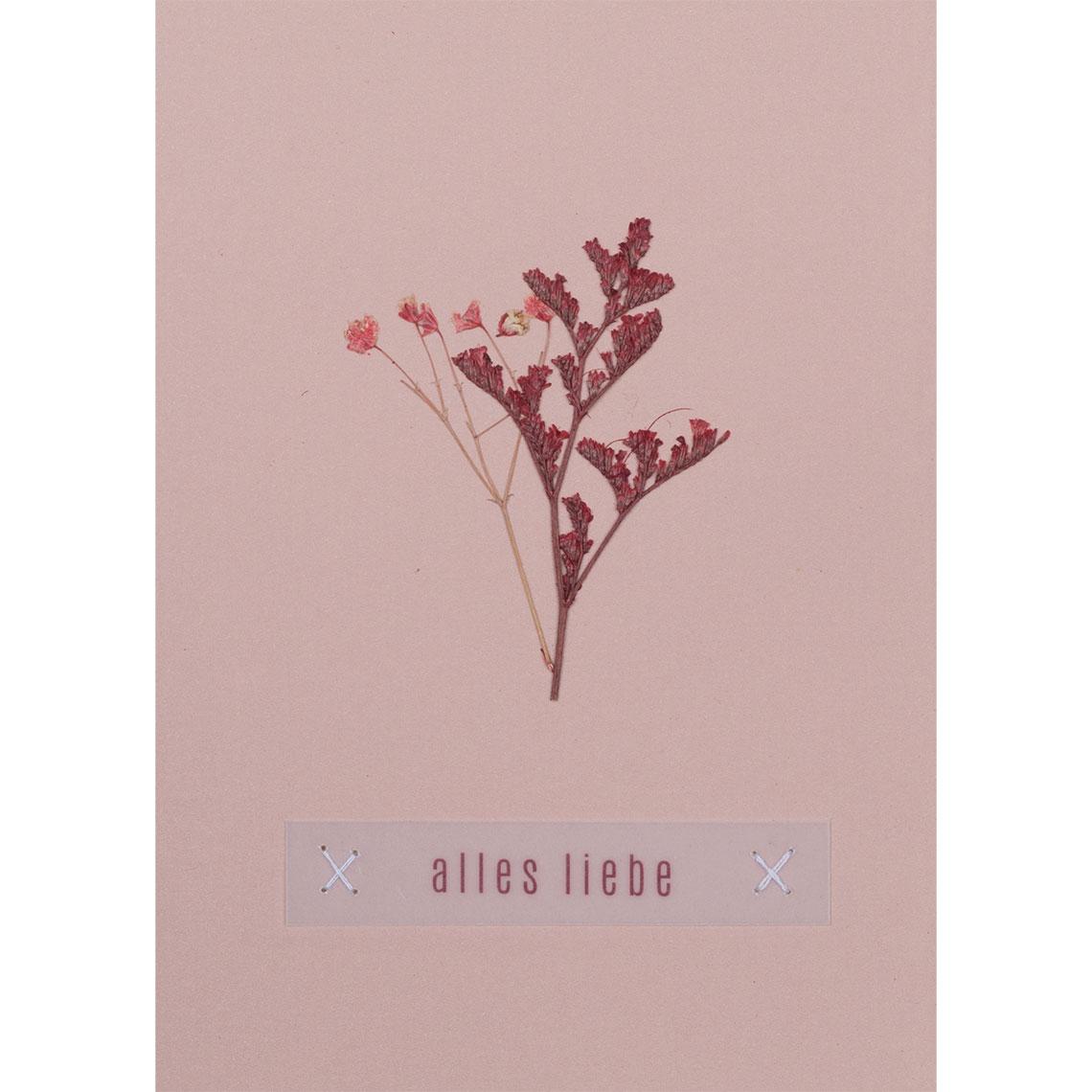 Blumengruß Glückwunschkarte - Alles Liebe - räder