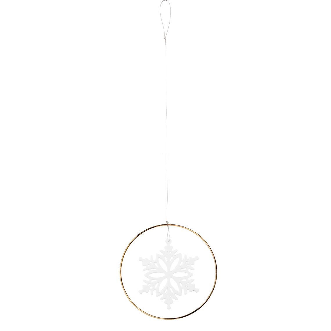 """Schneekristall Ornament """"Gold"""" - räder (Xmas)"""