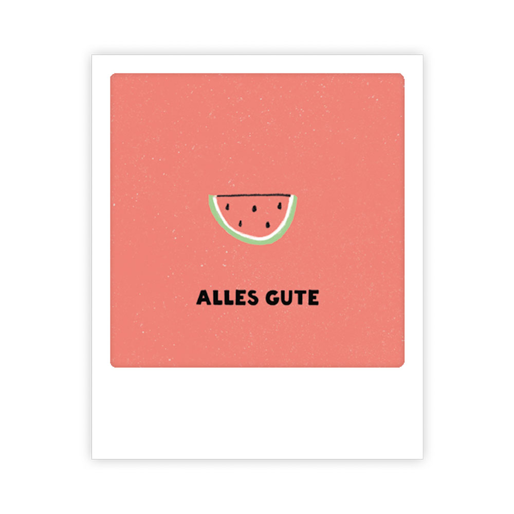 "Kleine-Postkarte ""Alles Gute"" - MP 0498 - DE - Pickmotion"