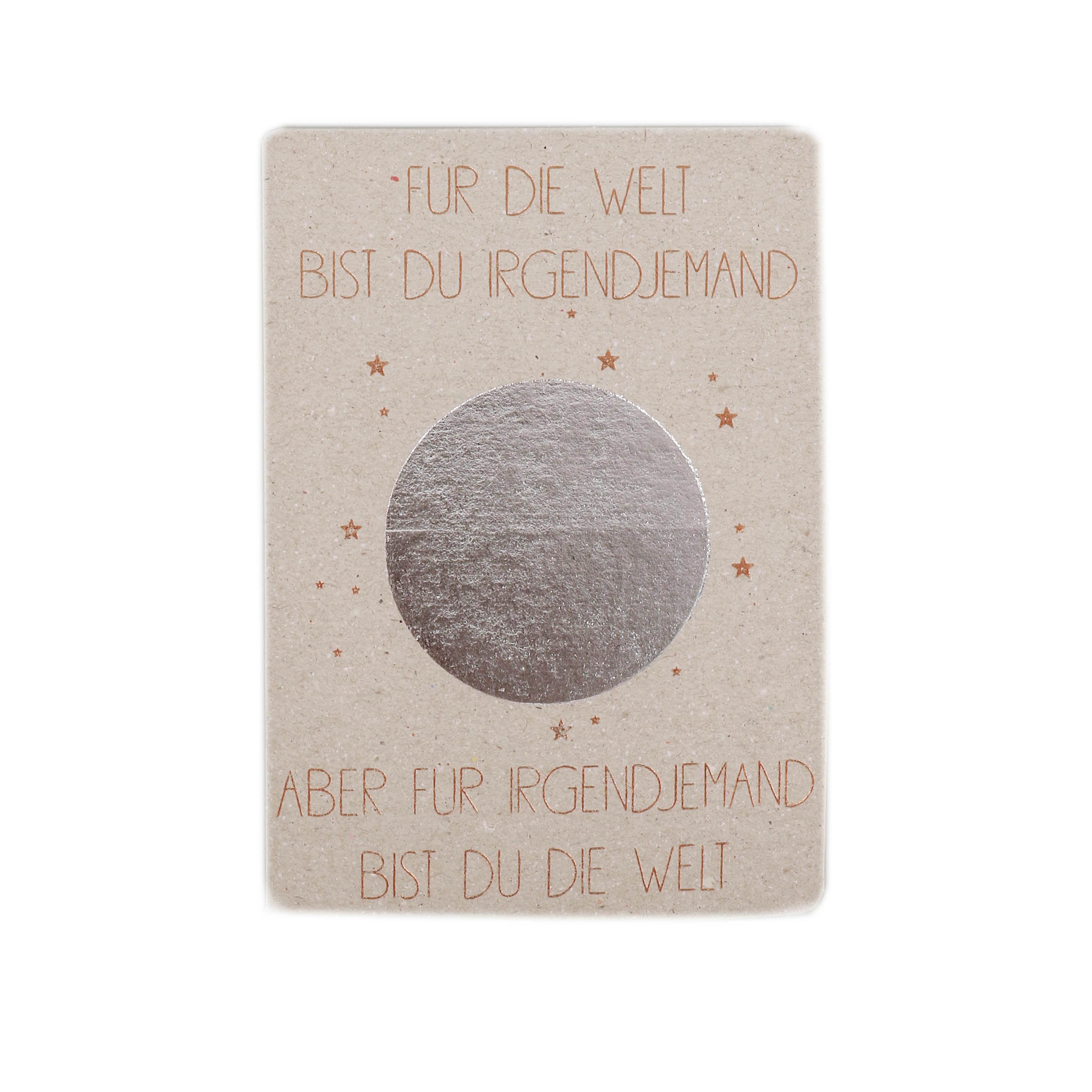 """Postkarte """"Für die Welt bist Du ..."""" - Good old friends"""