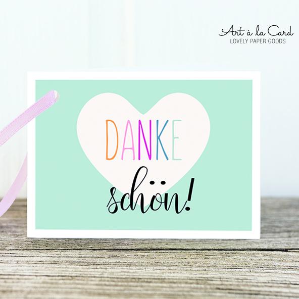 Geschenkanhänger - Dankeschön - Art a la Card