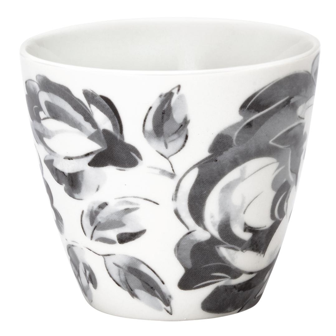 Latte Cup - Amanda dark grey - Greengate