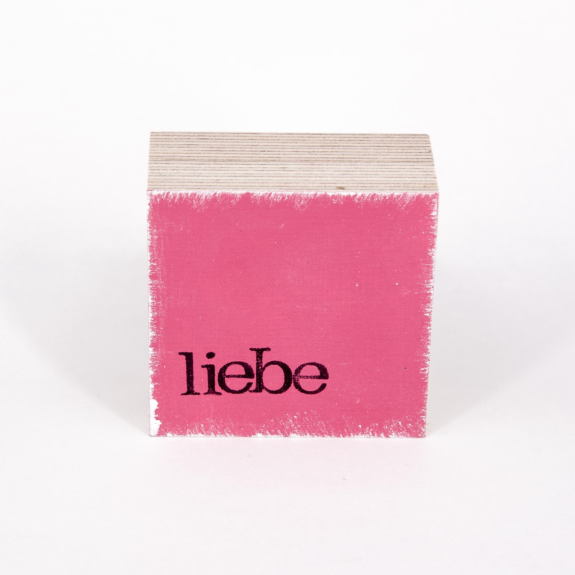 "Mini Textplatte - ""liebe"" - iopla"