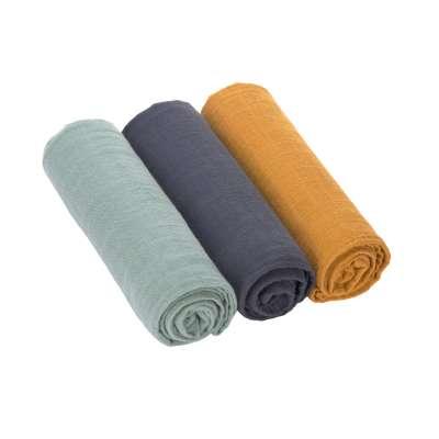 Spucktuch - blau - Swaddle & Burp Blanket L - Lässig