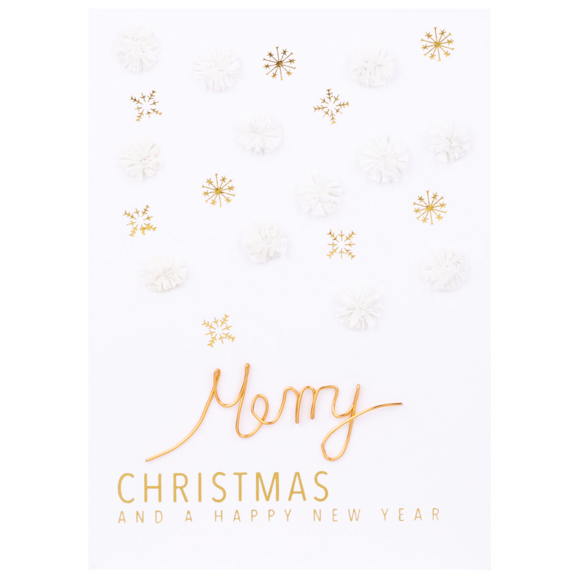 "Weihnachts Papierkunstkarte ""Merry Christmas"" - räder (Xmas)"