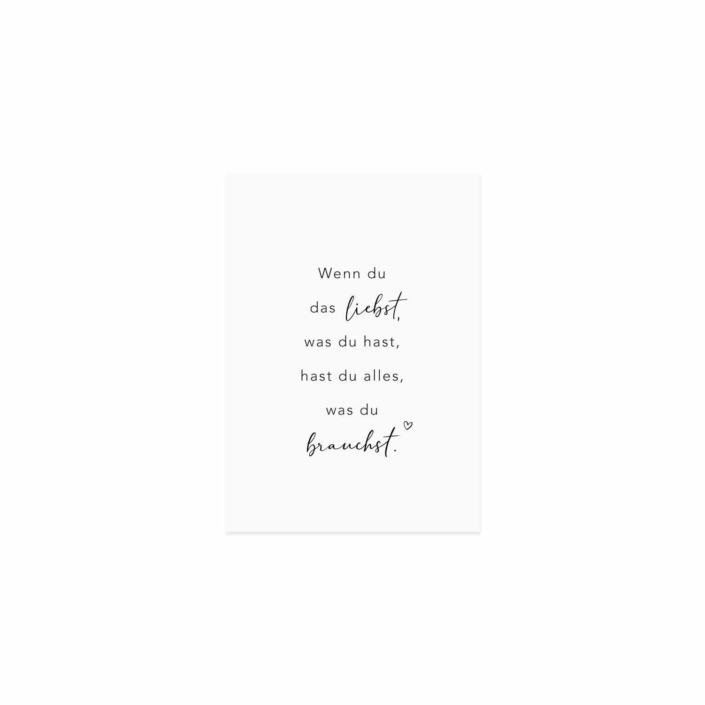 Postkarte -Alles was du brauchst - Eulenschnitt