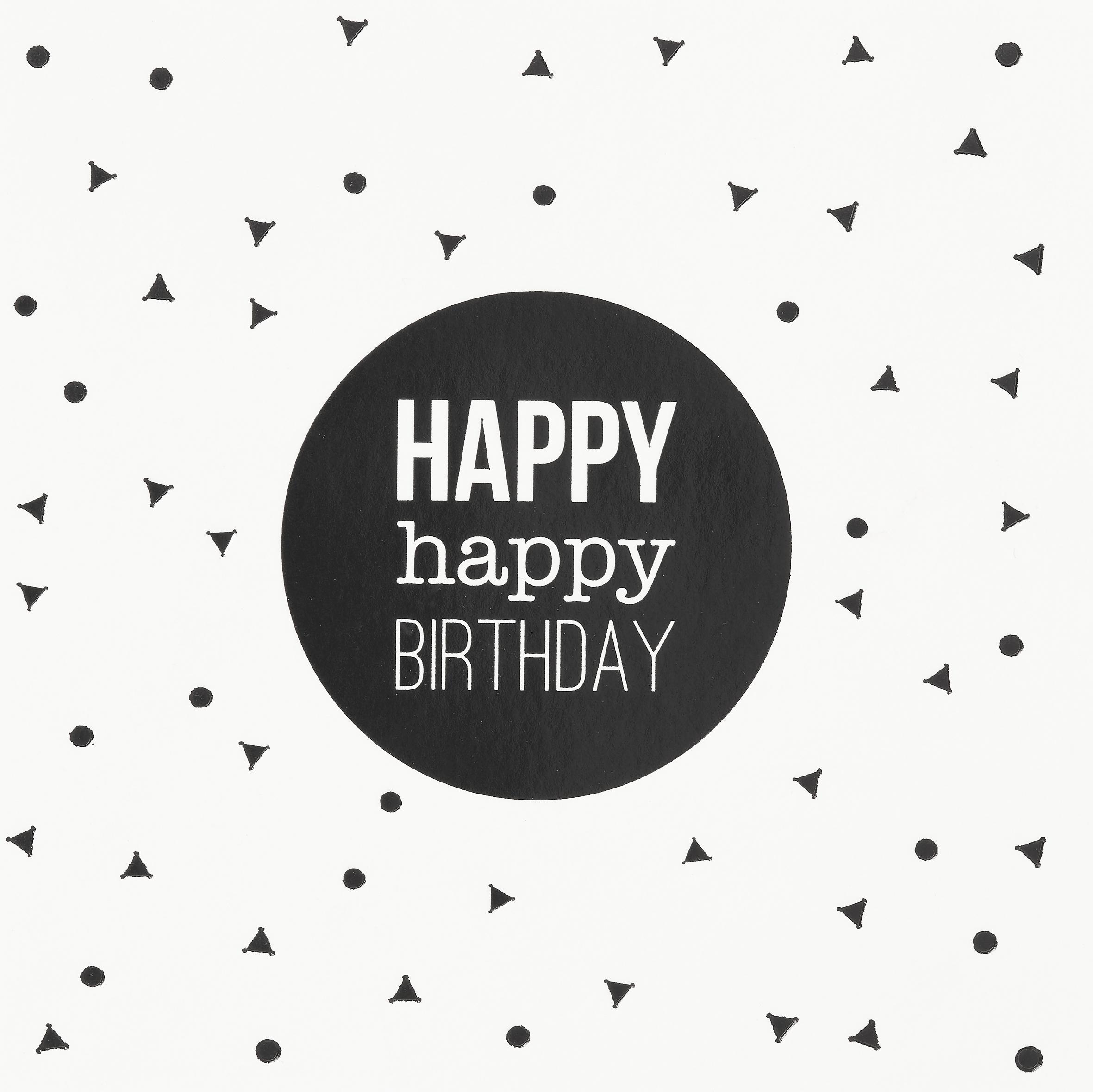 """Happy Day Postkarte """"Happy happy birthday"""" - räder"""