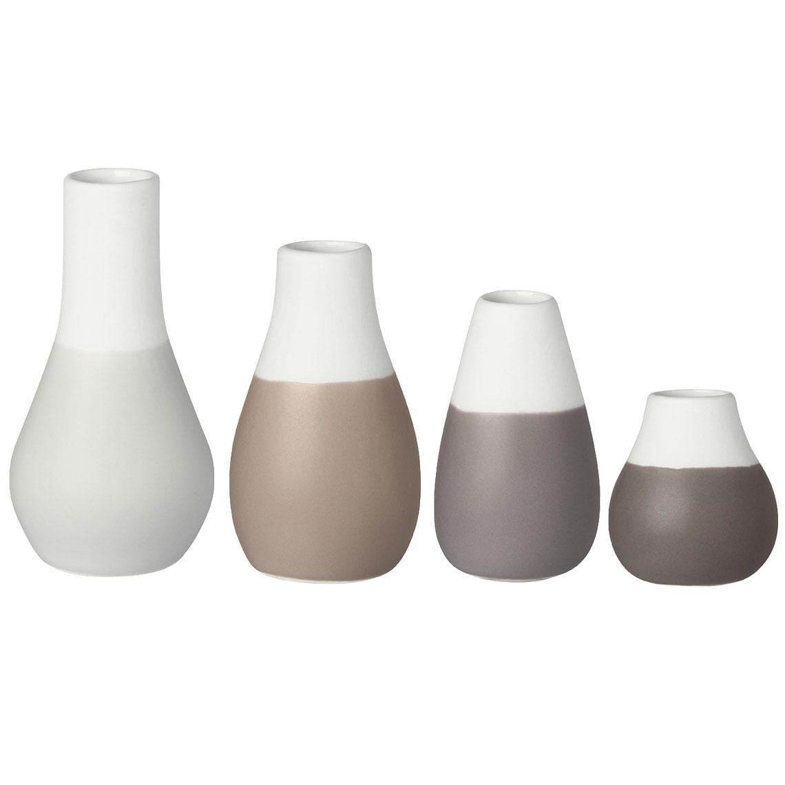 """Mini Vasen Grautöne """"Set aus 4"""" - räder"""