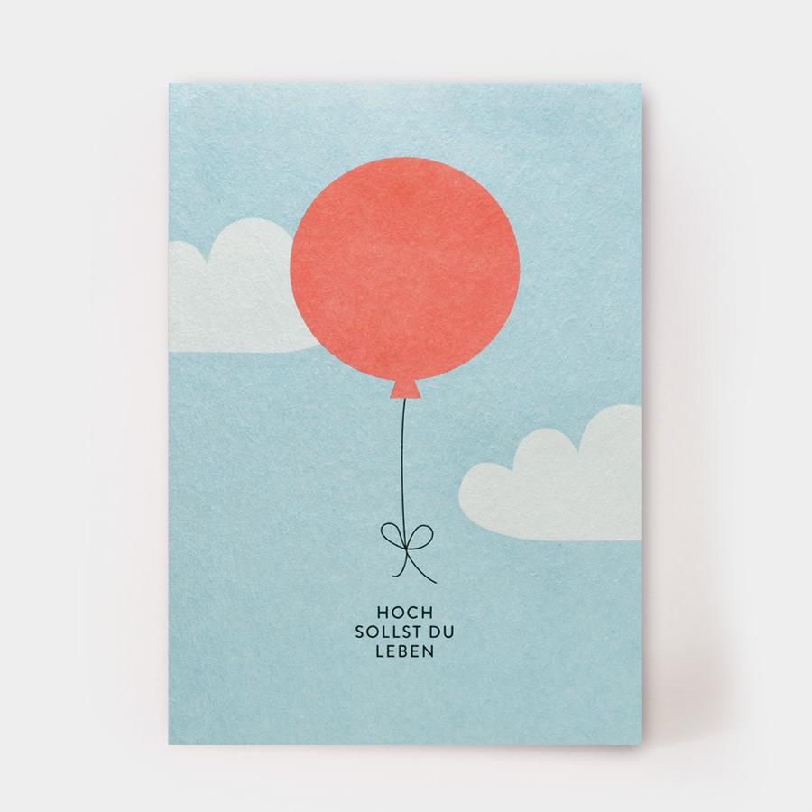 "Postkarte - ""Hoch sollst Du leben"" - Kartenmarie"