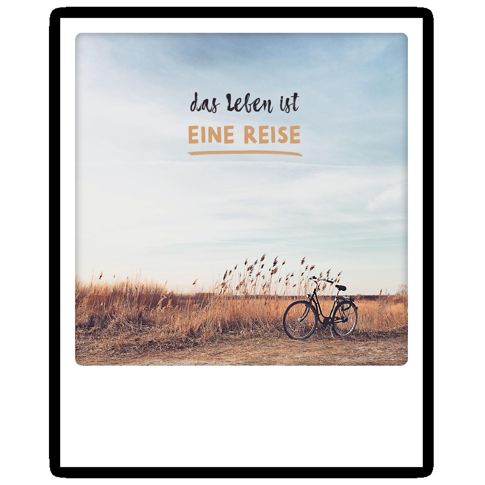 """Photo-Postkarte """"Das Leben ist eine Reise"""" - ZG 0758 - DE - Pickmotion"""