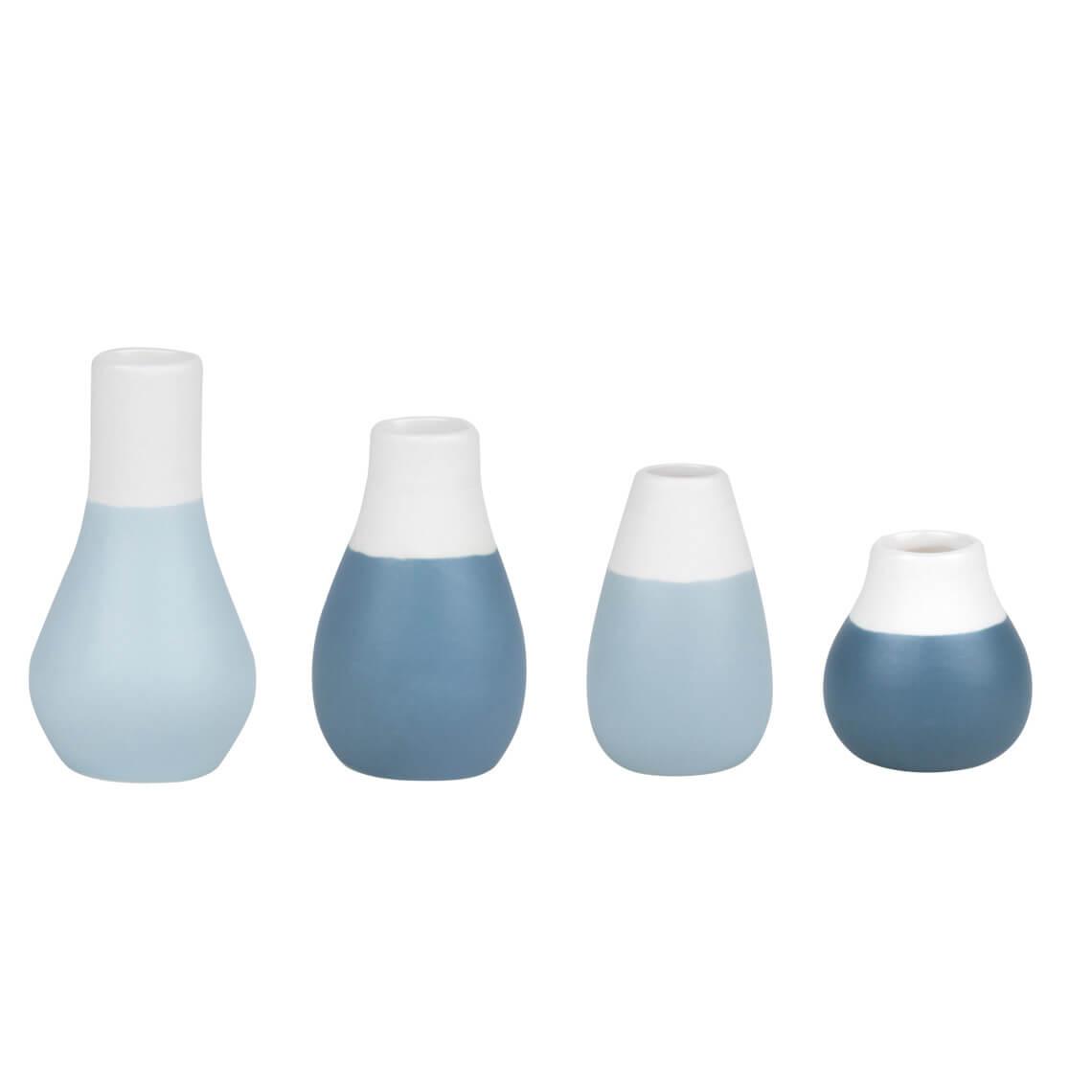 """Mini Vasen Blautöne """"Set aus 4"""" - räder"""