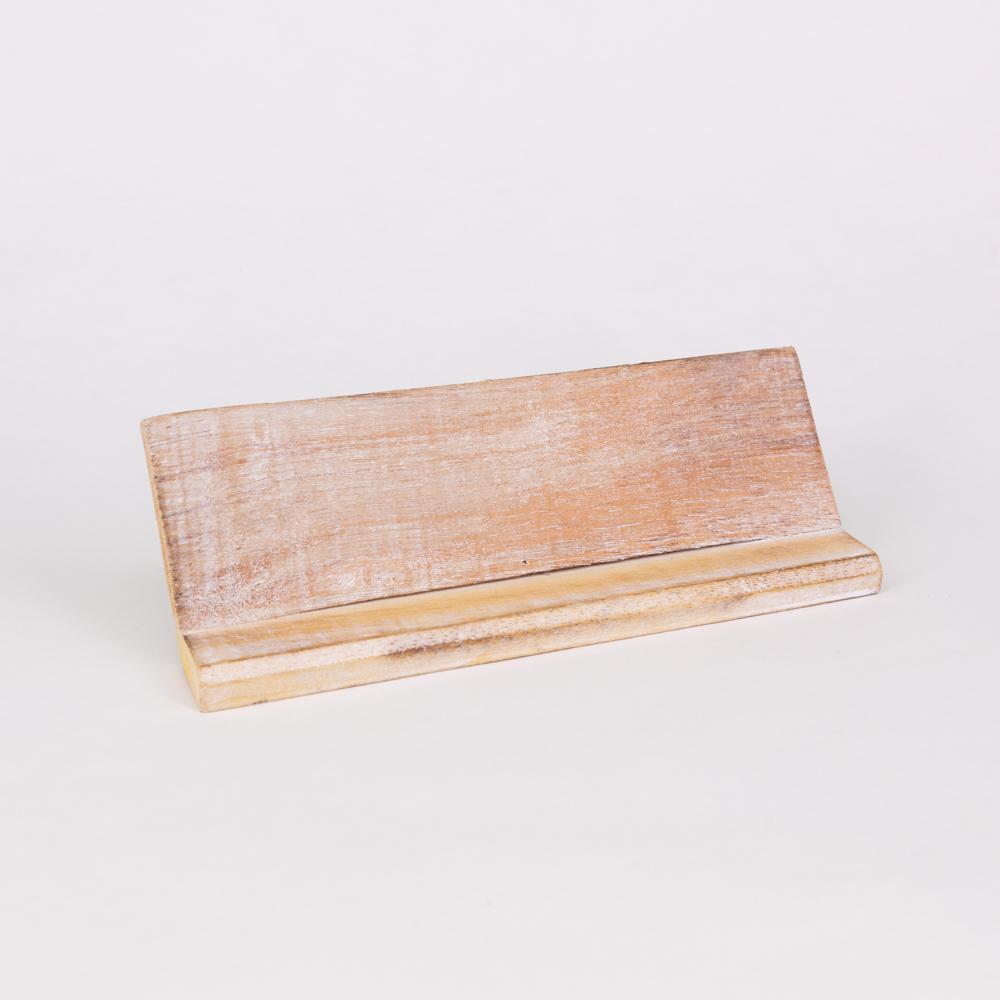 Holzleiste | Buchstabenbrett - 20 cm - weiß - für alle Holzbuchstaben und Holzzeichen im Scrabble-Style