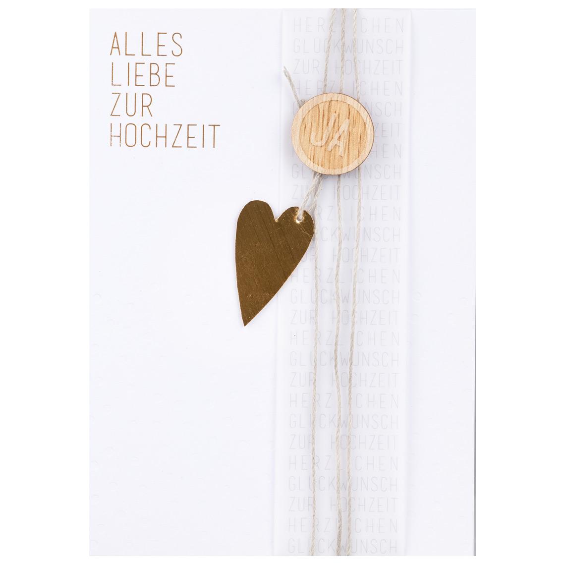 """Wunschkarte """"Alles Liebe zur Hochzeit"""" - räder"""
