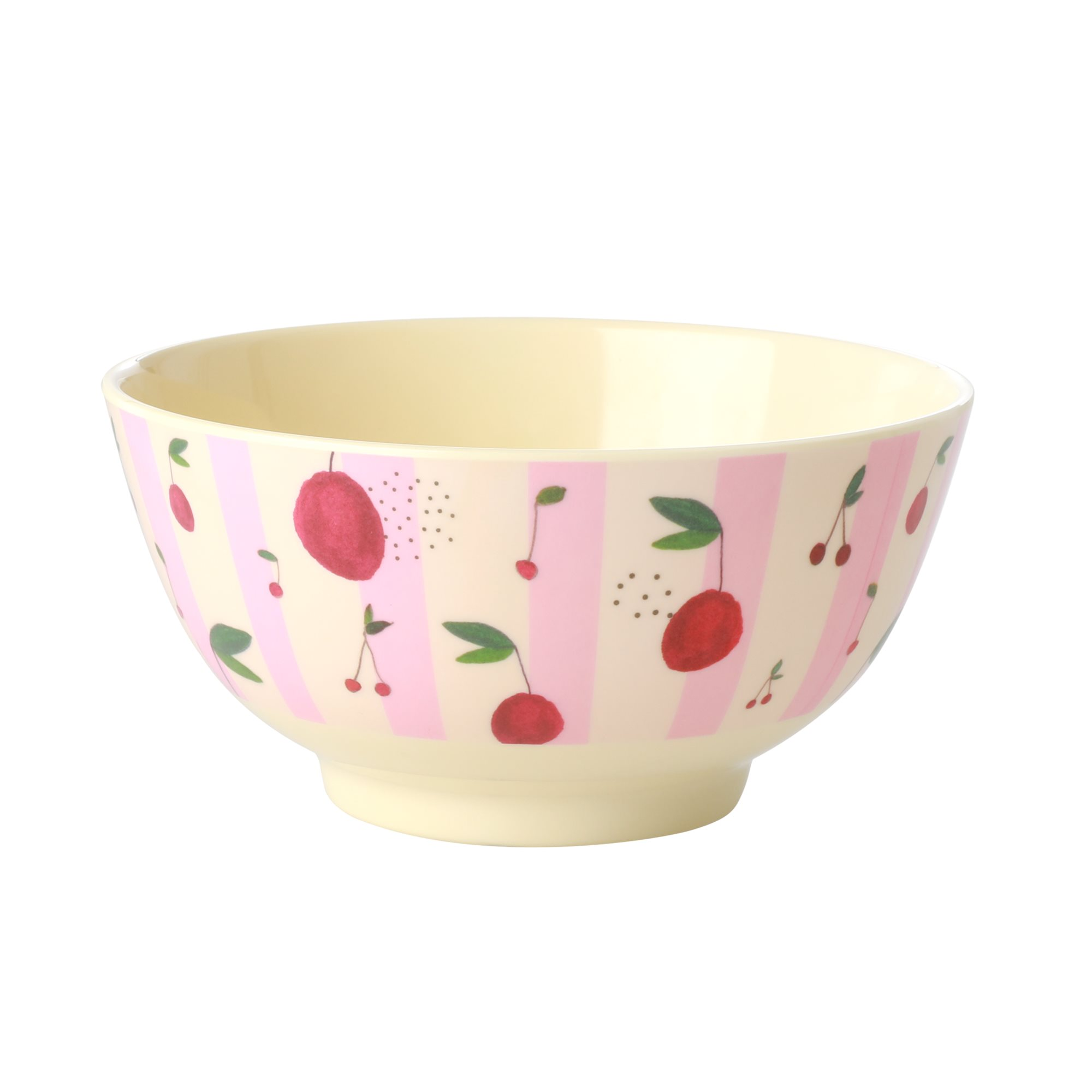 Medium Melamine Bowl - Cherry Print - rice