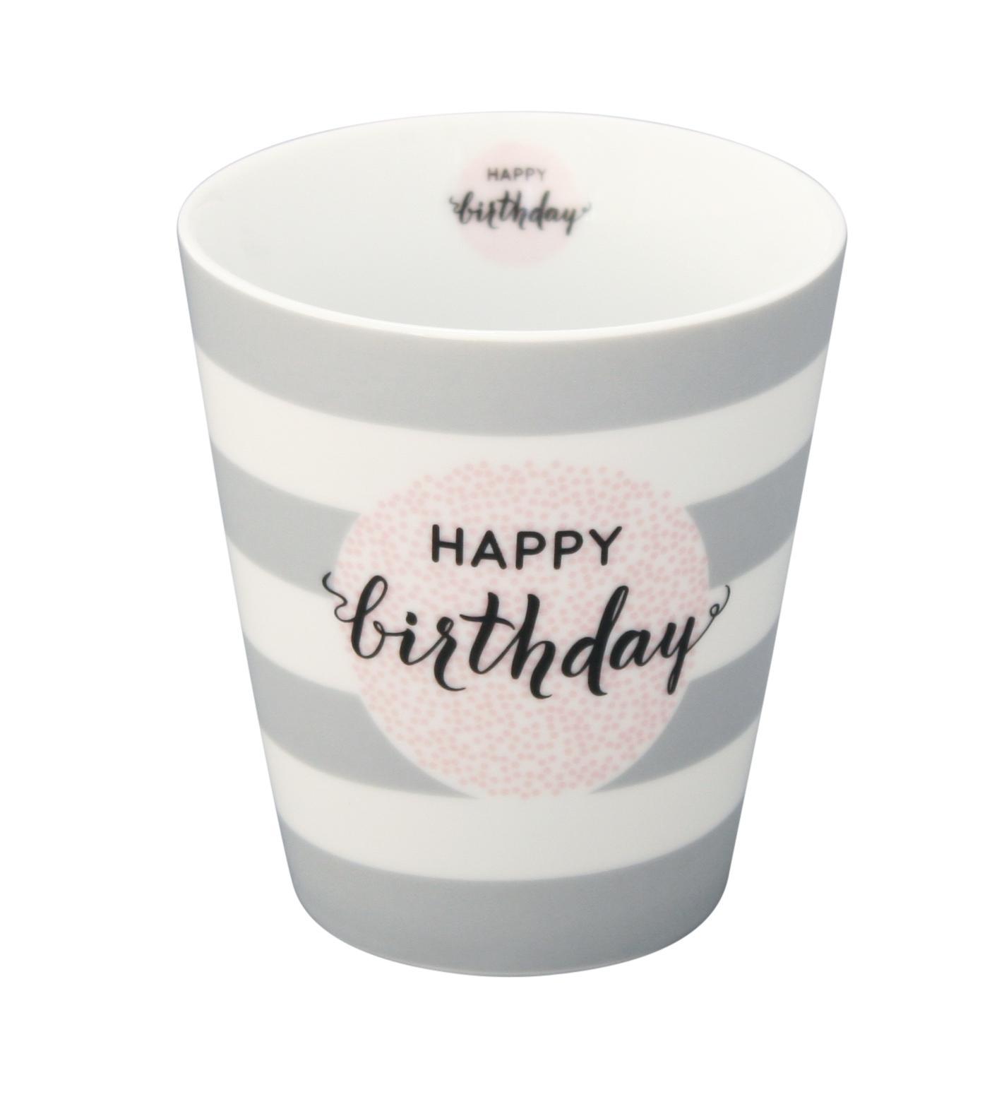 Kaffeebecher - Happy Birthday - Krasilnikoff