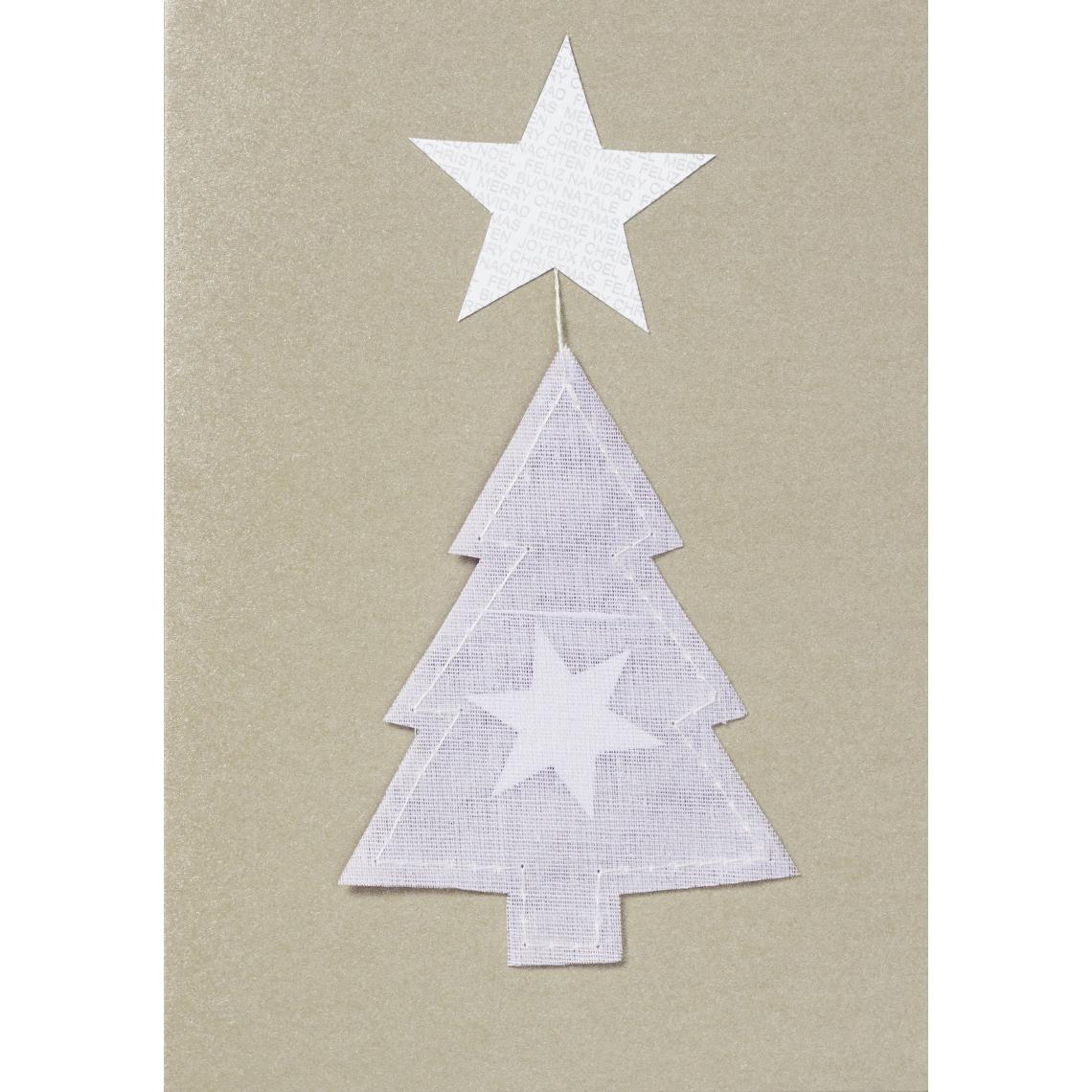 """Weihnachtsklappkarte - """"Baum mit Stern"""" - räder (Xmas)"""