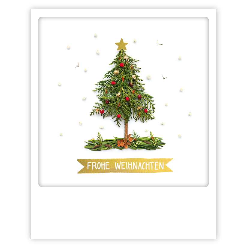 "Photo-Postkarte ""Frohe Weihnachten""- XM-0254-DE - Pickmotion (Xmas)"