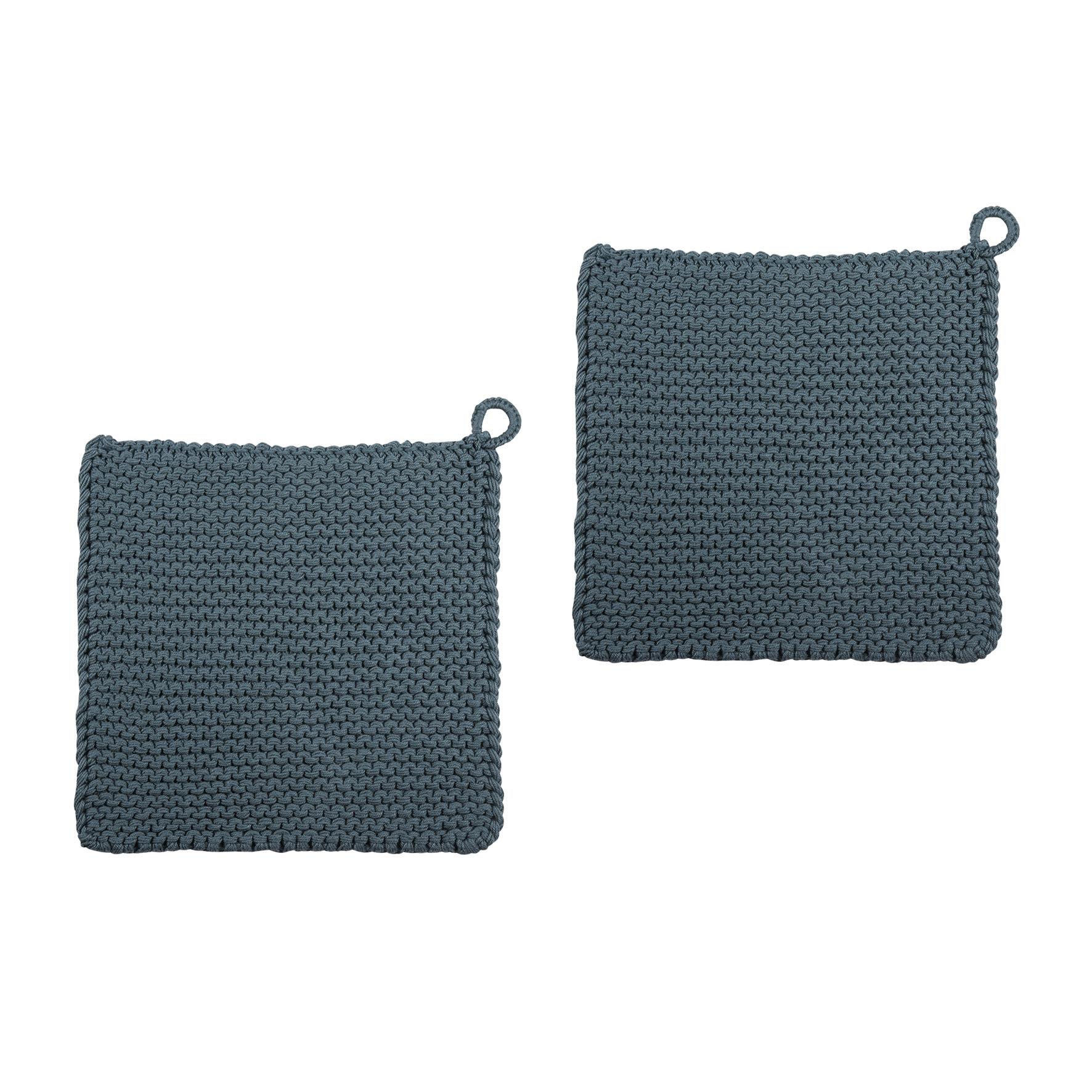 Topflappen - Twist Aqua 25x25 2er Pack - PAD home design