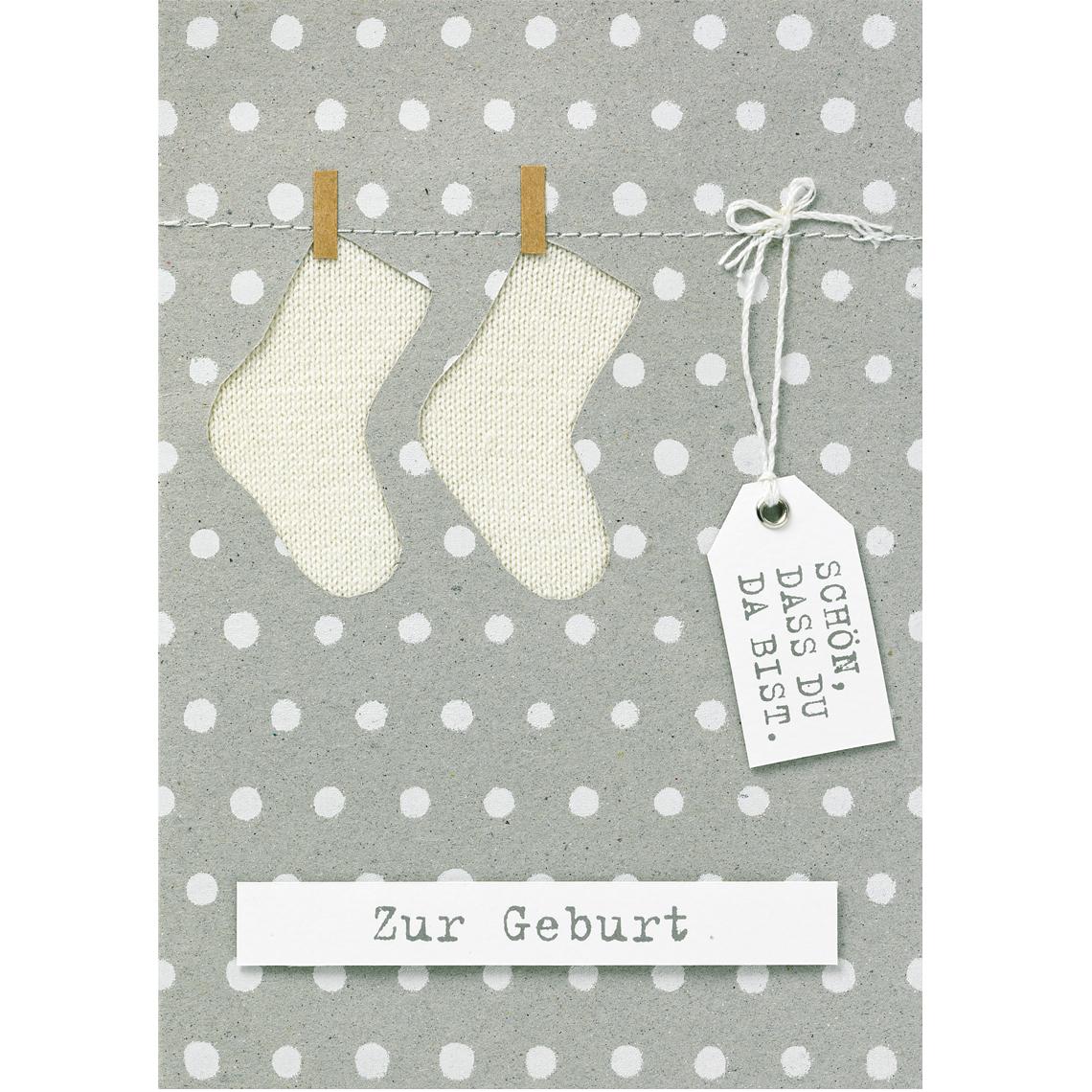 Geburtskarte - Babykarte neutral