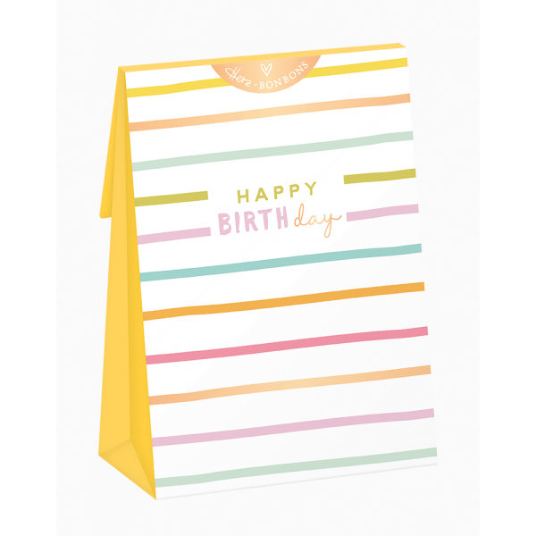 Herz-Bonbons mit Himbeer Geschmack - Happy Birthday - Grafik Werkstatt
