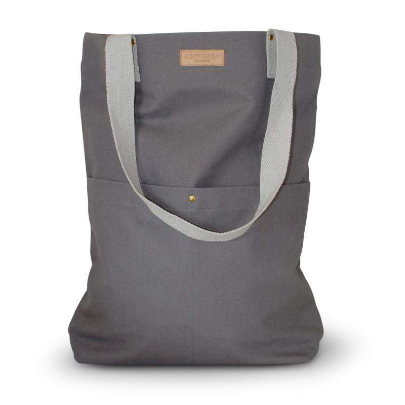 Einkaufstasche - Canvas Design Mano Dark Gray - Aspegren