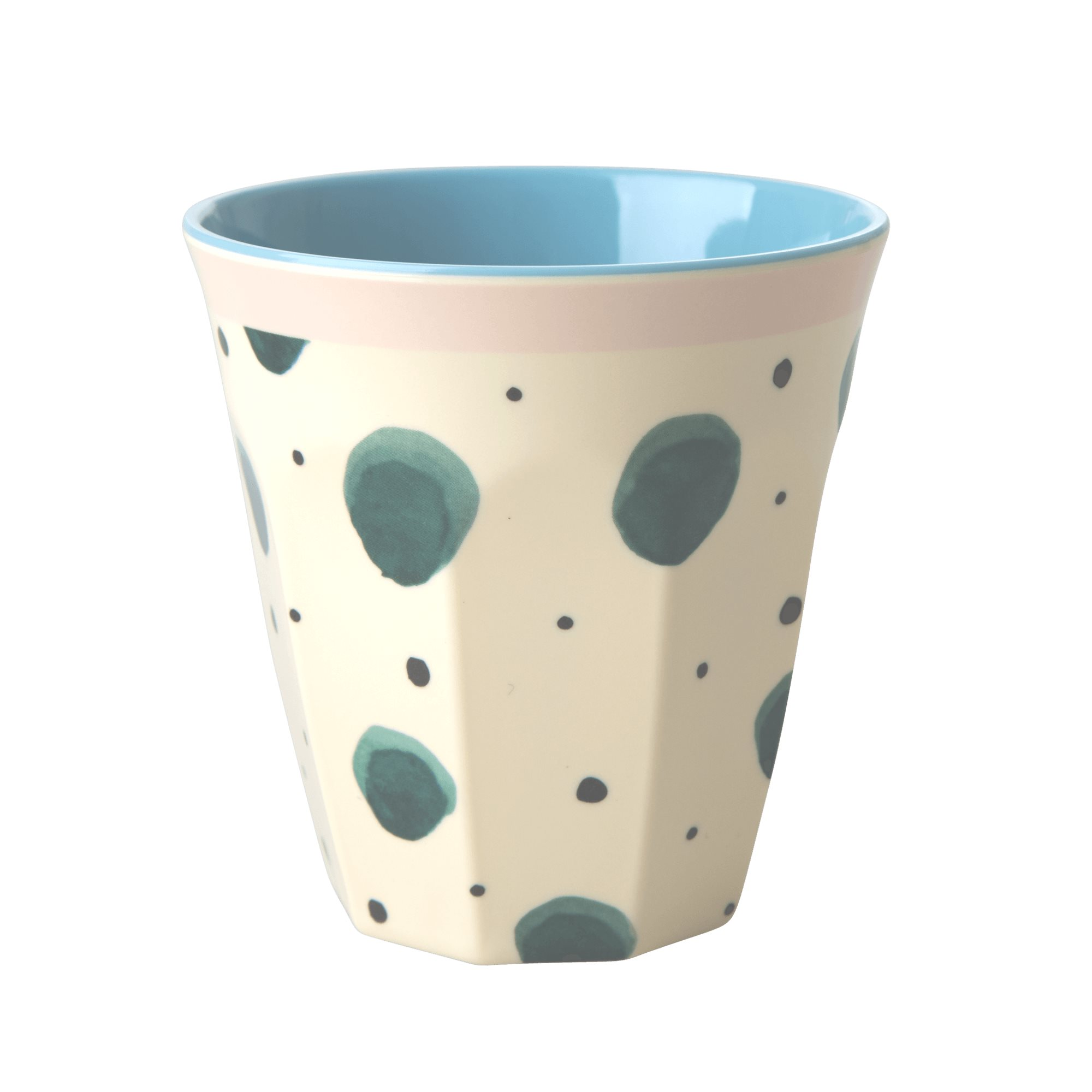 Medium Melamine Cup - Watercolor Splash Print - rice