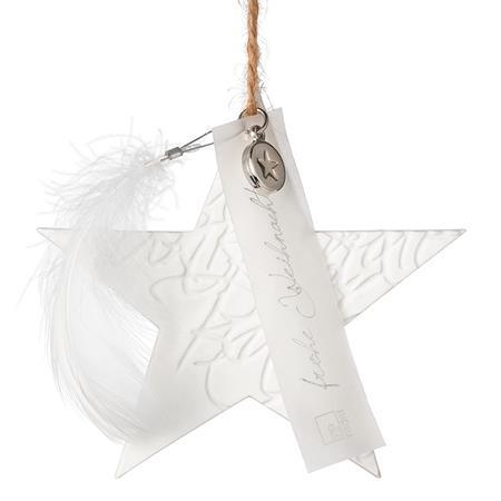 """Porzellanstern klein """"Frohe Weihnachten"""" - räder (Xmas)"""