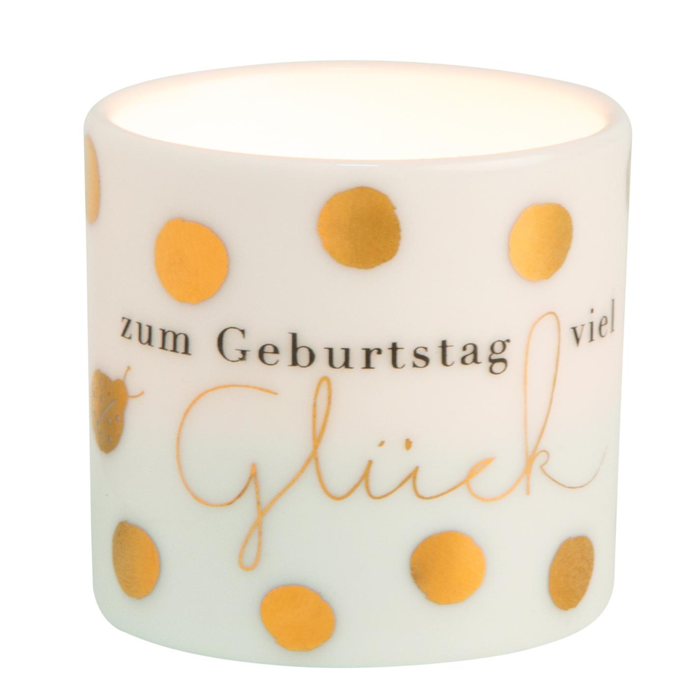 """Teelicht - Helle Freude """"Zum Geburtstag viel Glück"""" - räder"""