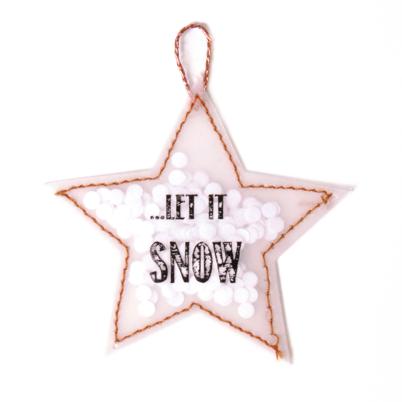 "Konfetti Sterne & Bäume ""Stern - Let it snow"" - Good old friends (Xmas)"