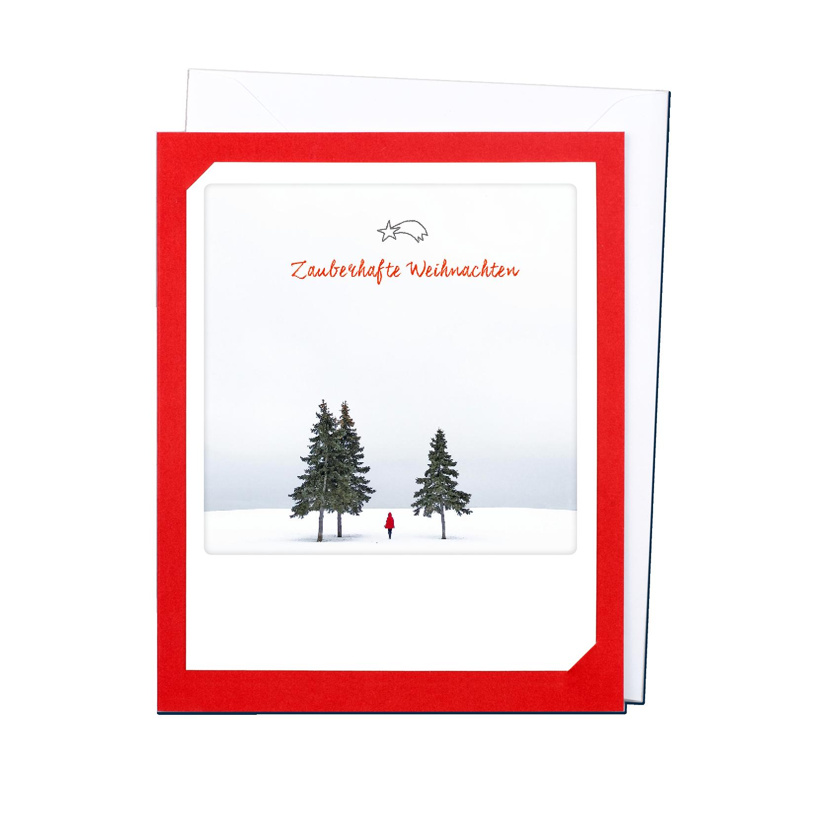 "Photo-Klappkarte ""Zauberhafte Weihnachten"" - XM-0154-DE-KK - Pickmotion (Xmas)"