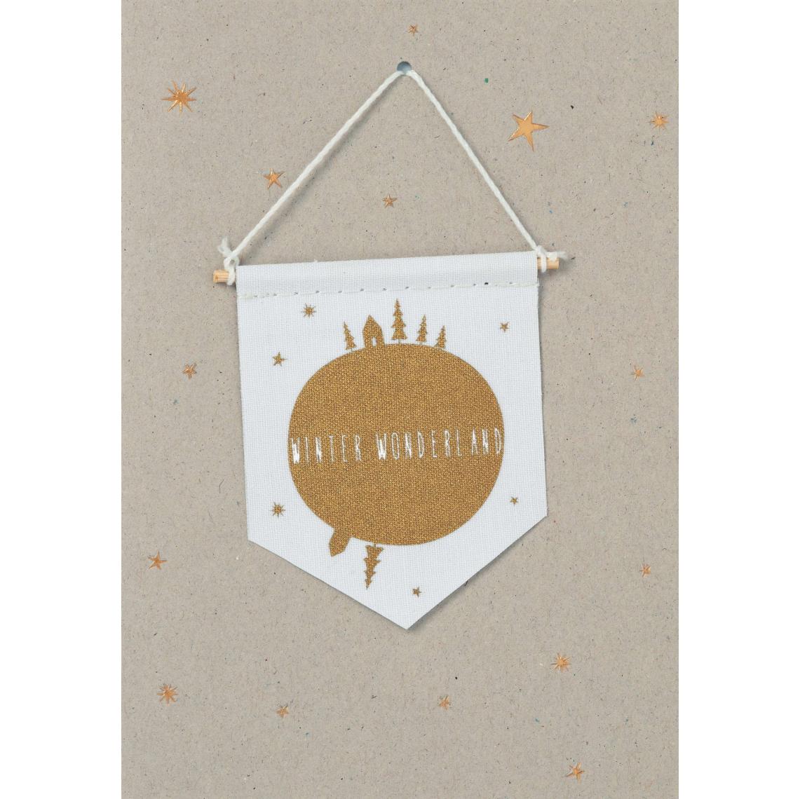 """Weihnachts Wimpelkarte """"Winter Wonderland"""" - räder (Xmas)"""